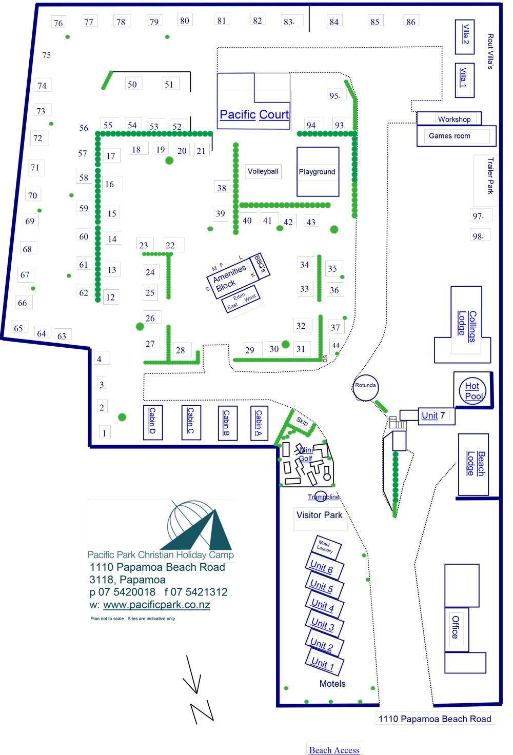 Camp Site Map